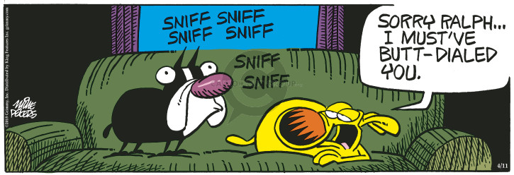 Comic Strip Mike Peters  Mother Goose and Grimm 2018-04-11 butt