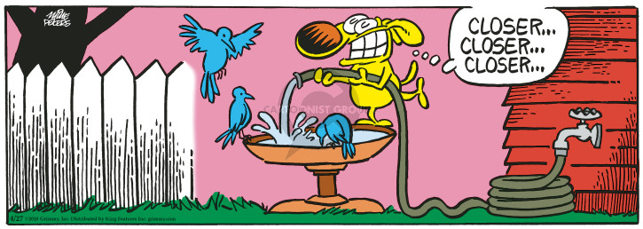 Cartoonist Mike Peters  Mother Goose and Grimm 2018-04-27 dog