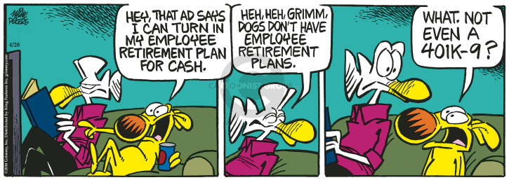 Cartoonist Mike Peters  Mother Goose and Grimm 2018-04-28 retirement
