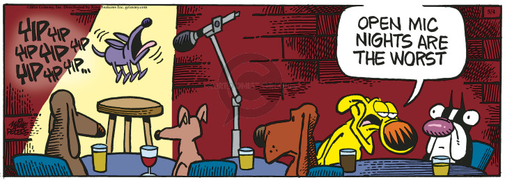 Cartoonist Mike Peters  Mother Goose and Grimm 2018-05-04 bark