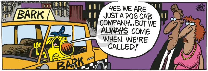 Cartoonist Mike Peters  Mother Goose and Grimm 2018-05-05 bark