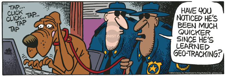Cartoonist Mike Peters  Mother Goose and Grimm 2018-05-15 dog