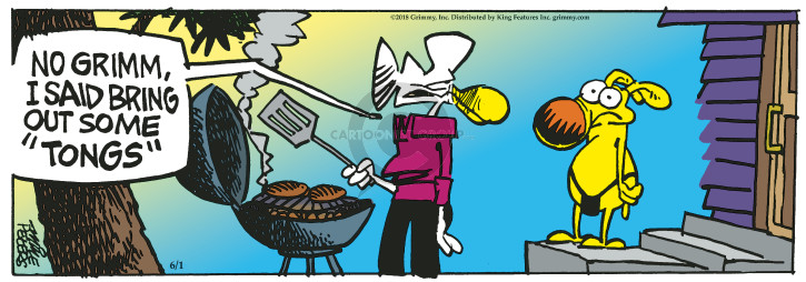 Comic Strip Mike Peters  Mother Goose and Grimm 2018-06-01 cooking