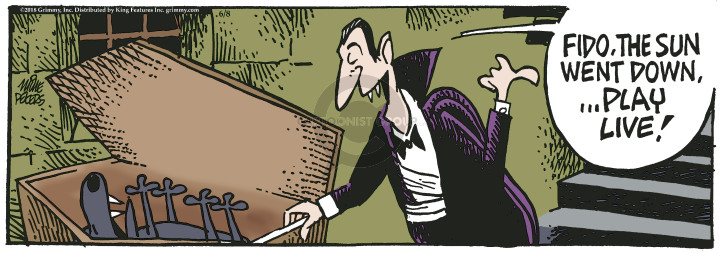 Cartoonist Mike Peters  Mother Goose and Grimm 2018-06-08 vampire