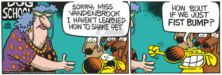 Comic Strip Mike Peters  Mother Goose and Grimm 2018-06-14 dog trick