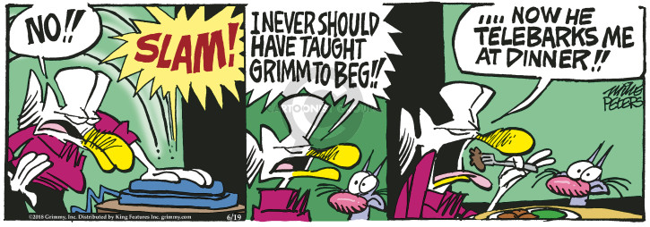 Cartoonist Mike Peters  Mother Goose and Grimm 2018-06-19 bark