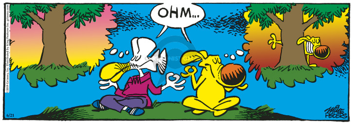 Cartoonist Mike Peters  Mother Goose and Grimm 2018-06-21 tree