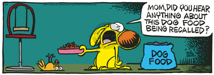 Cartoonist Mike Peters  Mother Goose and Grimm 2018-07-02 dog food