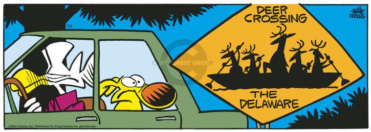 Deer Crossing the Delaware.