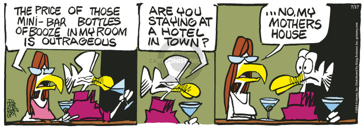 Comic Strip Mike Peters  Mother Goose and Grimm 2018-07-17 stay