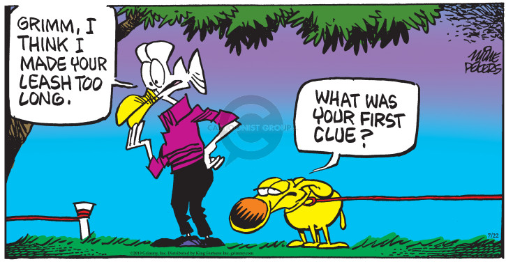 Comic Strip Mike Peters  Mother Goose and Grimm 2018-07-22 world