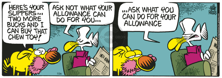 Comic Strip Mike Peters  Mother Goose and Grimm 2018-07-26 quote