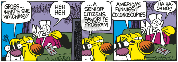 Cartoonist Mike Peters  Mother Goose and Grimm 2018-08-07 watch