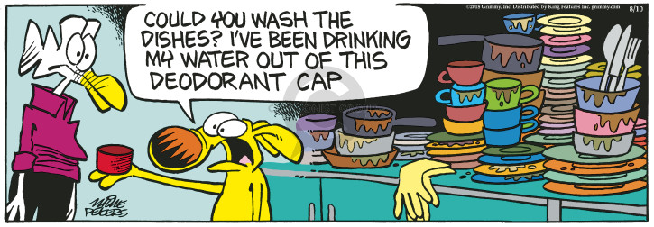 Comic Strip Mike Peters  Mother Goose and Grimm 2018-08-10 drinking water
