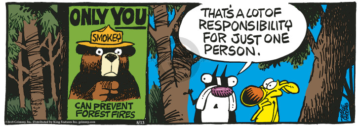 Comic Strip Mike Peters  Mother Goose and Grimm 2018-08-13 bear