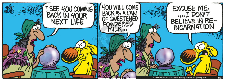 Comic Strip Mike Peters  Mother Goose and Grimm 2018-08-17 back