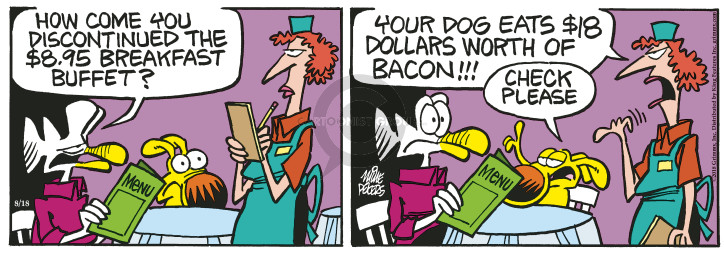 Cartoonist Mike Peters  Mother Goose and Grimm 2018-08-18 check