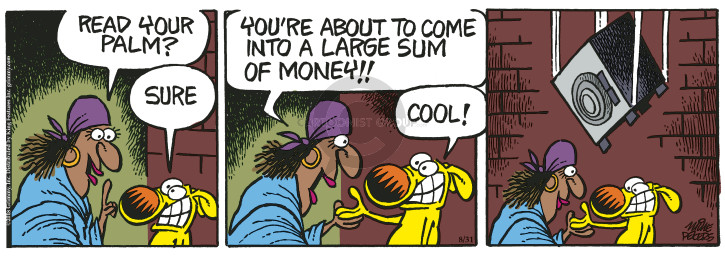 Comic Strip Mike Peters  Mother Goose and Grimm 2018-08-31 teller