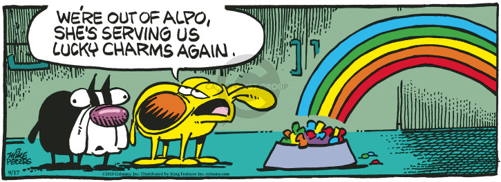 Cartoonist Mike Peters  Mother Goose and Grimm 2018-09-17 dog food