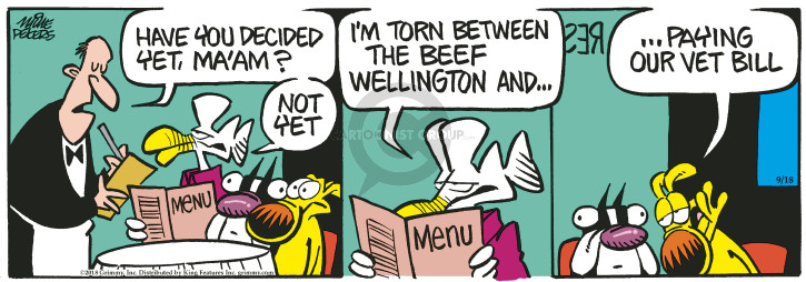 Comic Strip Mike Peters  Mother Goose and Grimm 2018-09-18 dining out