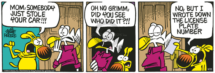 Comic Strip Mike Peters  Mother Goose and Grimm 2018-09-22 car