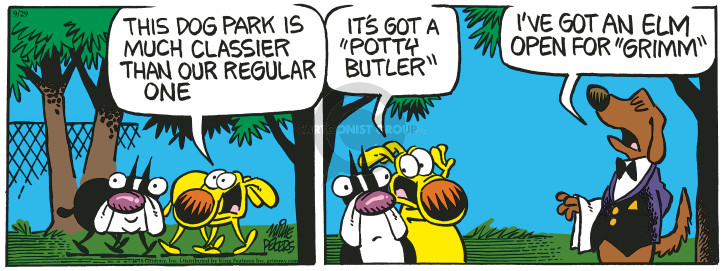 Comic Strip Mike Peters  Mother Goose and Grimm 2018-09-29 park