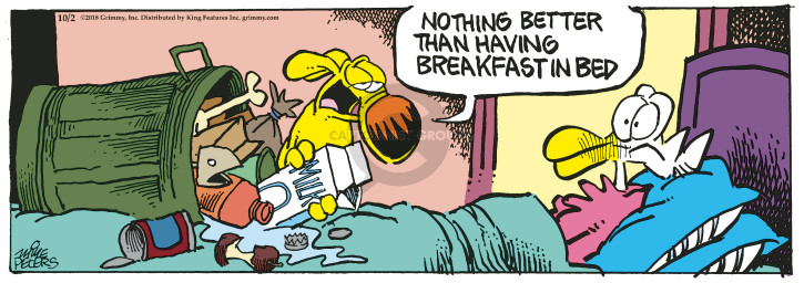 Comic Strip Mike Peters  Mother Goose and Grimm 2018-10-02 breakfast