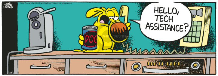 Cartoonist Mike Peters  Mother Goose and Grimm 2018-10-06 canned dog food