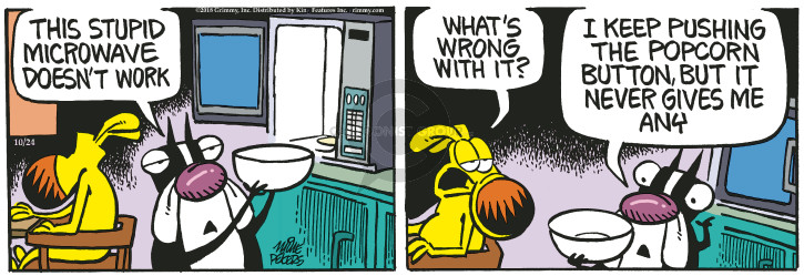 Comic Strip Mike Peters  Mother Goose and Grimm 2018-10-24 give
