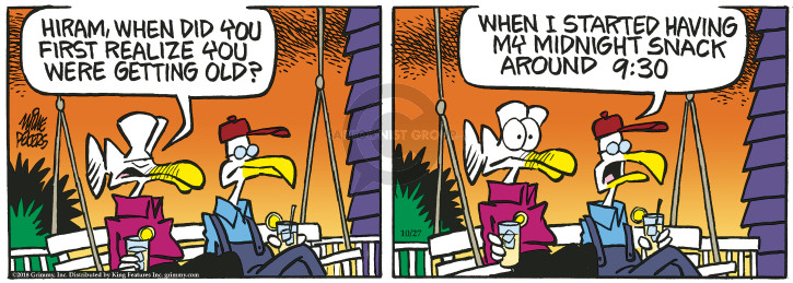 Comic Strip Mike Peters  Mother Goose and Grimm 2018-10-27 start