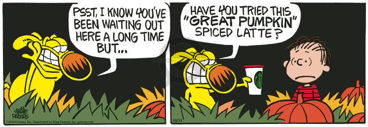 Cartoonist Mike Peters  Mother Goose and Grimm 2018-10-31 long