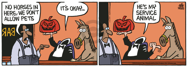 Comic Strip Mike Peters  Mother Goose and Grimm 2018-11-02 Halloween