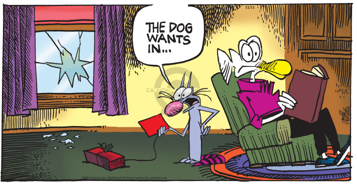 Comic Strip Mike Peters  Mother Goose and Grimm 2018-11-11 throw