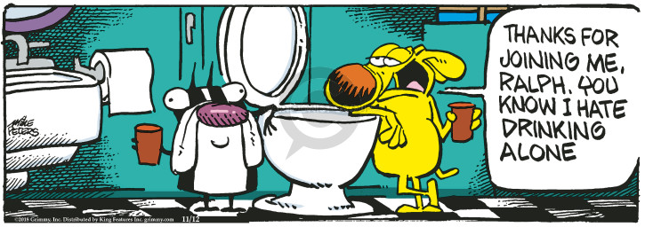 Comic Strip Mike Peters  Mother Goose and Grimm 2018-11-12 toilet
