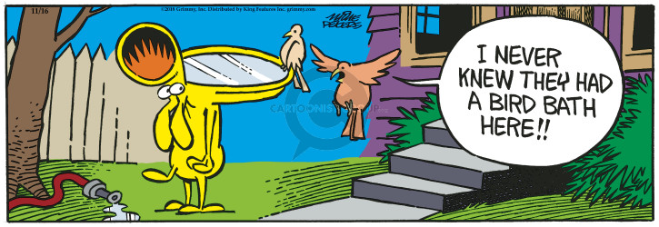 Comic Strip Mike Peters  Mother Goose and Grimm 2018-11-16 dog trick