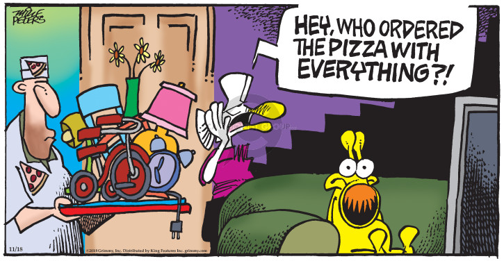 Comic Strip Mike Peters  Mother Goose and Grimm 2018-11-18 delivery
