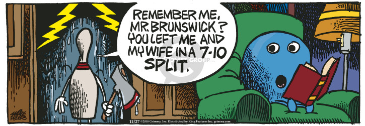 Comic Strip Mike Peters  Mother Goose and Grimm 2018-11-27 remember me