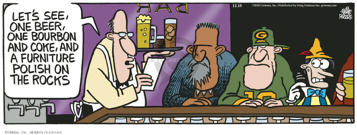 Comic Strip Mike Peters  Mother Goose and Grimm 2018-12-18 cocktail