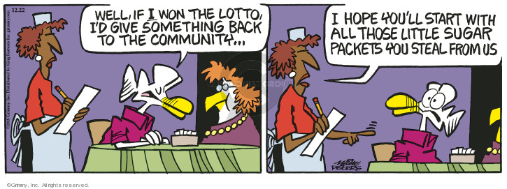 Comic Strip Mike Peters  Mother Goose and Grimm 2018-12-22 back