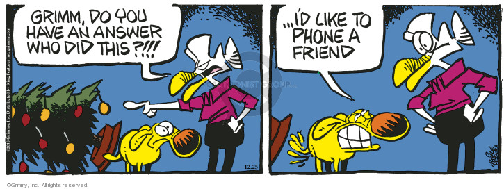 Comic Strip Mike Peters  Mother Goose and Grimm 2018-12-25 friend