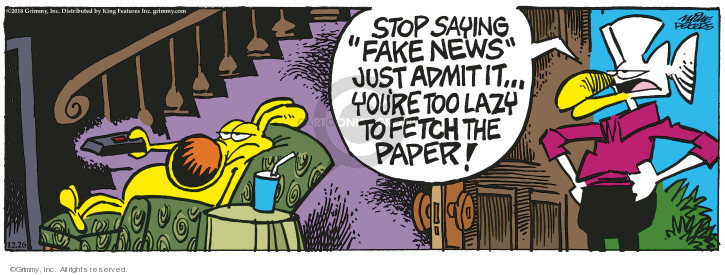 Comic Strip Mike Peters  Mother Goose and Grimm 2018-12-26 stop