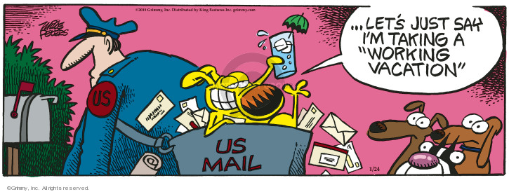 Cartoonist Mike Peters  Mother Goose and Grimm 2019-01-24 mailman