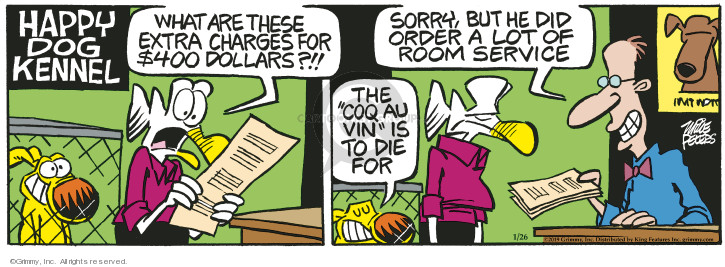 Comic Strip Mike Peters  Mother Goose and Grimm 2019-01-26 hotel