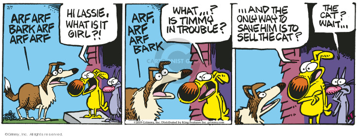 Comic Strip Mike Peters  Mother Goose and Grimm 2019-02-07 arf