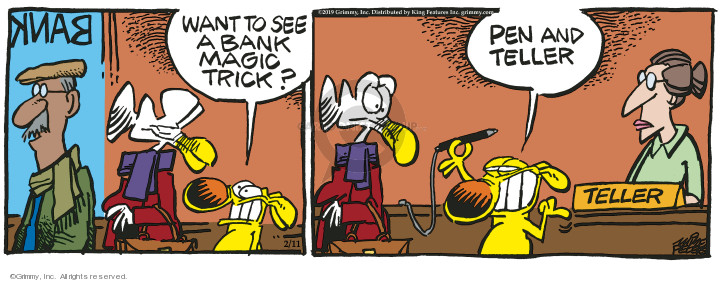 Cartoonist Mike Peters  Mother Goose and Grimm 2019-02-11 trick