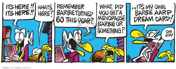 Comic Strip Mike Peters  Mother Goose and Grimm 2019-02-12 age