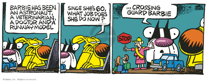 Comic Strip Mike Peters  Mother Goose and Grimm 2019-02-14 stop