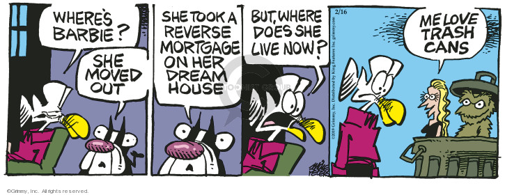 Comic Strip Mike Peters  Mother Goose and Grimm 2019-02-16 trash can