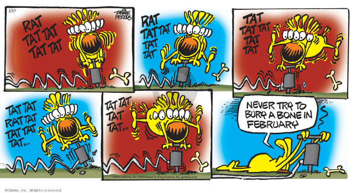 Cartoonist Mike Peters  Mother Goose and Grimm 2019-02-17 dig