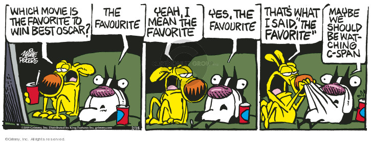 Cartoonist Mike Peters  Mother Goose and Grimm 2019-02-18 mean
